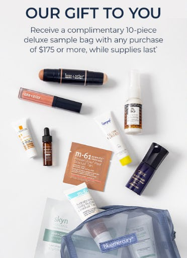 Receive a Complimentary 10-Piece Deluxe Sample Bag with Any Purchase of $175 or More