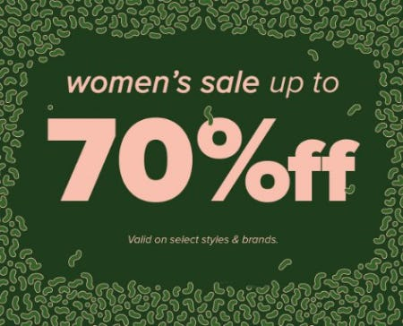 Women's Sale up to 70% Off