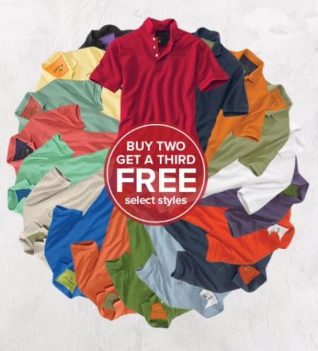 Buy 2 Signature Polos, Get a 3rd Free
