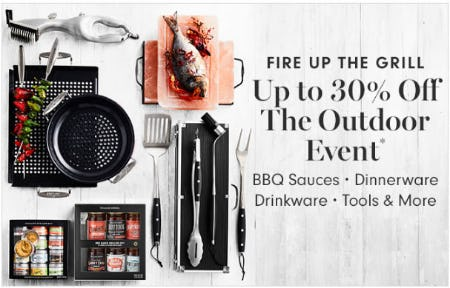 Up to 30% Off The Outdoor Event from Williams-Sonoma