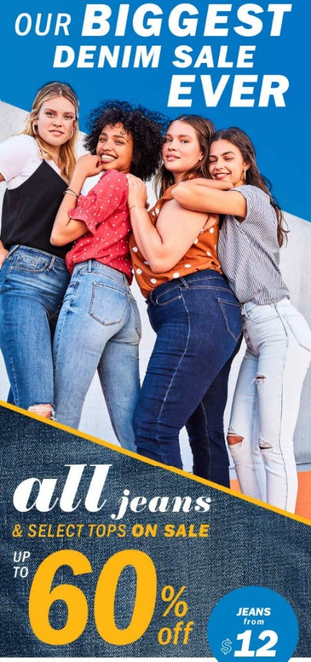 All Jeans & Select Tops on Sale up to 60% Off from Old Navy