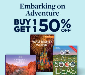 B1G1 50% Off Embarking on Adventure from Books-A-Million