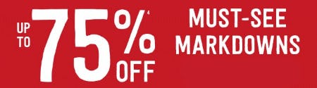 Up to 75% Off Must-See Markdowns