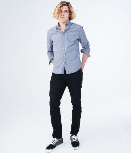 Skinny Black Wash Stretch Jean from Aéropostale