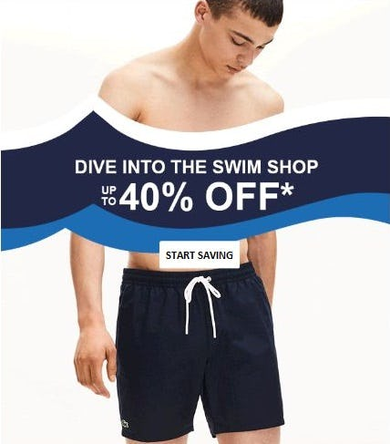 Up to 40% Off The Swim Shop from Lacoste