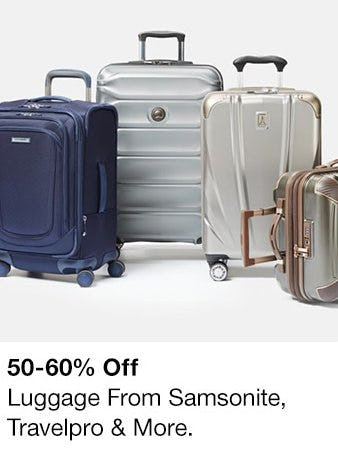 50-60% Off Luggage from Samsonite, Travelpro & More