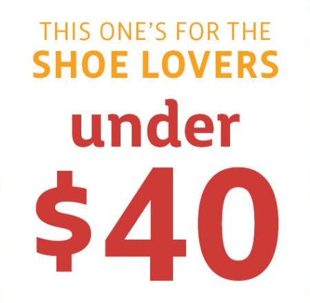 Shoes Under $40 from Stein Mart