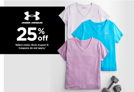 25% Off Under Armour from Kohl's