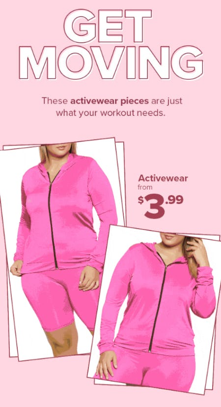 Activewear From $3.99 from Rainbow
