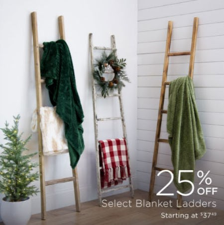 25% Off Select Blanket Ladders from Kirkland's