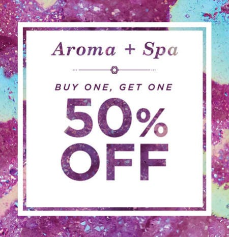 BOGO 50% Off Aroma & Spa from Earthbound Trading Company