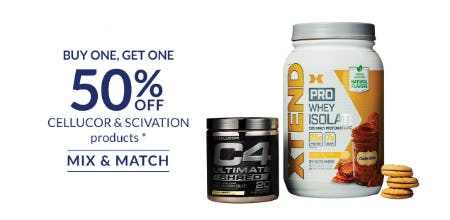 BOGO 50% Off Cellucor & Scivation Products
