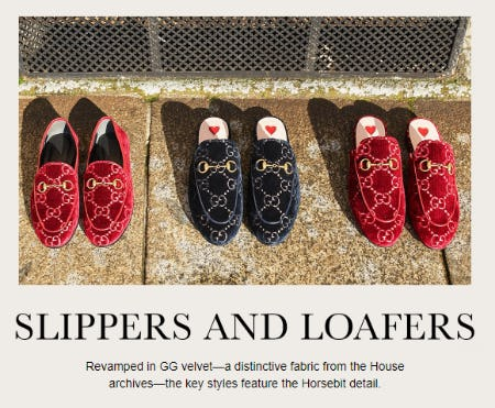 Shop Our Slippers & Loafers from Gucci