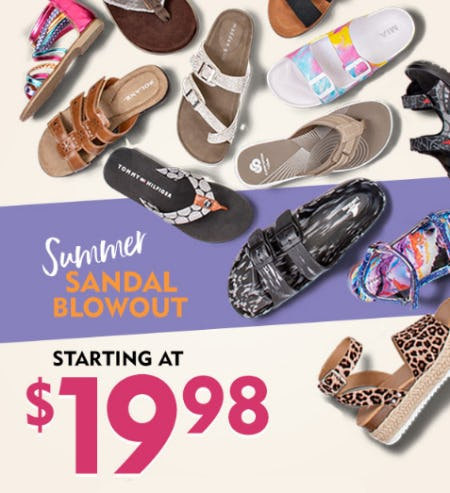 Summer Sandal Blowout Starting at $19.98 from Shoe Carnival