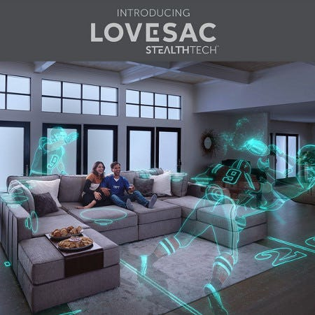 Introducing Lovesac StealthTech from Lovesac Designed For Life Furniture Co