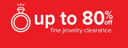 Up to 80% Off Fine Jewelry Clearance