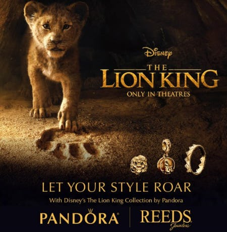 PANDORA NEW Lion King Collection from Reeds Jewelers