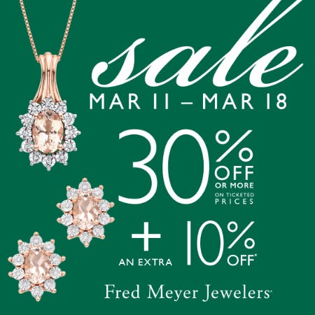 Lucky Saving Sale from Fred Meyer Jewelers