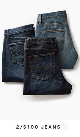 2 for $100 Jeans from Men's Wearhouse