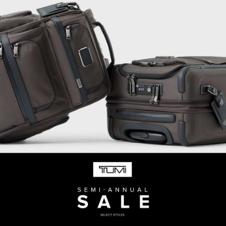 TUMI November Semi Annual SALE from TUMI