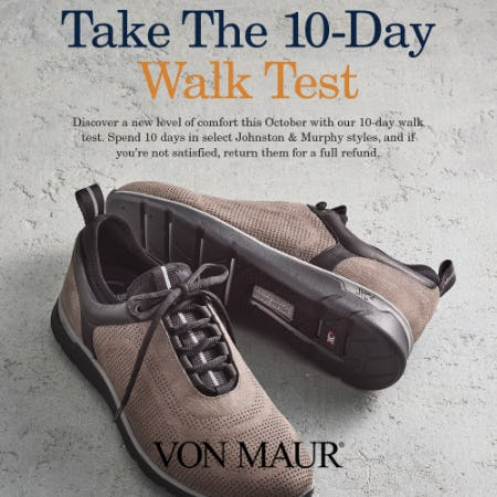 Johnston & Murphy Walk Test from Von Maur