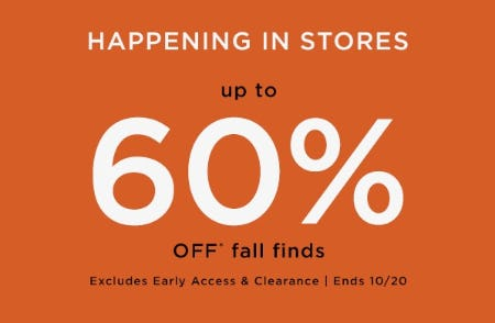 Up to 60% Off Fall Finds