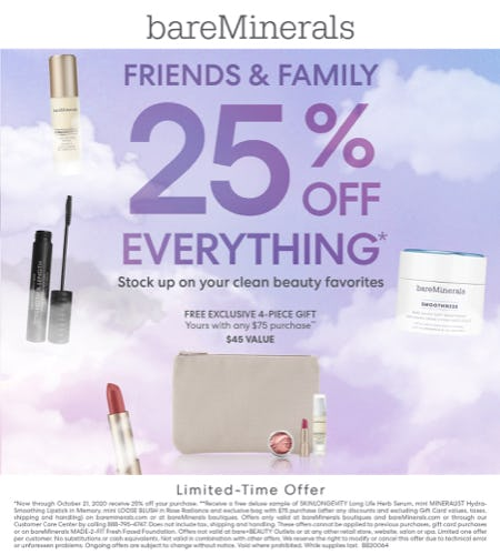 Friends and Family 25% off purchase!!
