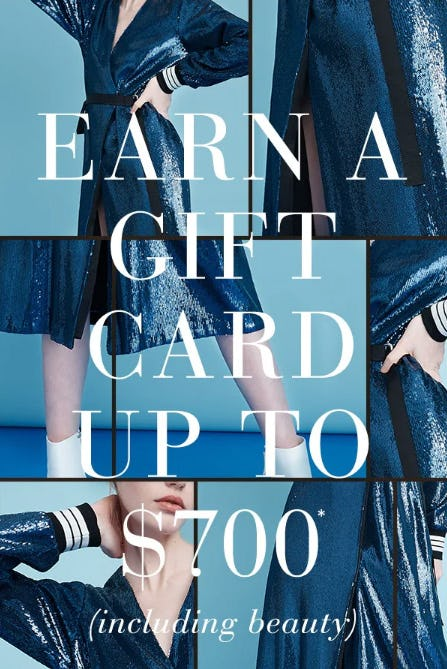 Earn a Gift Card Up to $700 from Saks Fifth Avenue
