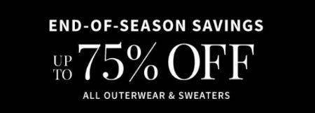 End-of-Season Savings: Up to 75% Off All Outerwear & Sweaters