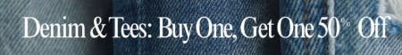 BOGO 50% Off Denim and Tees from Lucky Brand Jeans