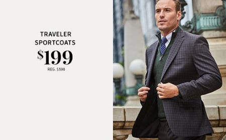 Traveler Sportcoats $199 from Jos. A. Bank