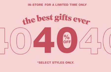 40% Off Select Styles from Garage