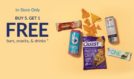 B5G1 Free on Bars, Snacks, & Drinks from The Vitamin Shoppe