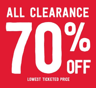 70% Off All Clearance from Crazy 8