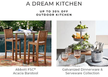 Up to 30% Off Outdoor Kitchen from Pottery Barn