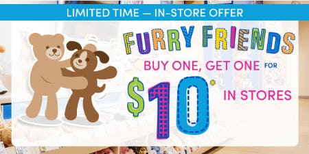 BOGO $10 Furry Friends from Build-A-Bear Workshop