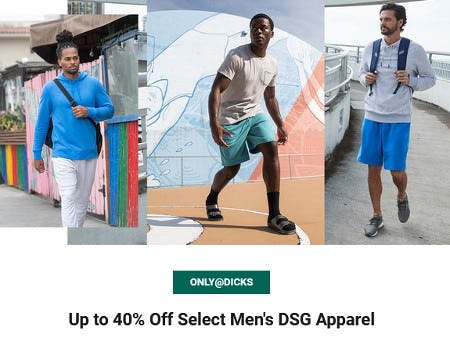Up to 40% Off Select Men's DSG Apparel from Dick's Sporting Goods