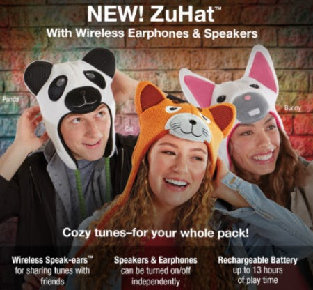 ZuHat™ With Wireless Earphones & Speakers from Brookstone
