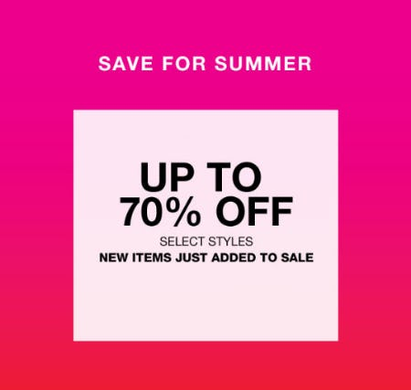 Up to 70% Off Sale