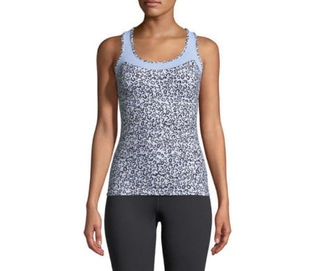 Varley Vidora Vest Sleeveless Printed Top from Neiman Marcus