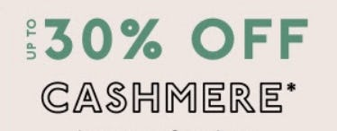 Up to 30% Off Cashmere from Madewell