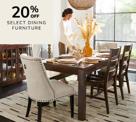 20% Off Select Dining Furniture from Pier 1 Imports