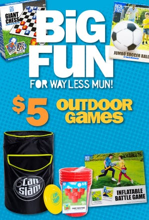 Outdoor Games at $5 from Five Below
