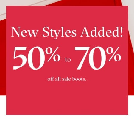 50% to 70% Off All Sale Boots from ALDO Shoes