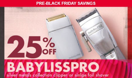 25% Off Babylisspro from Sally Beauty Supply