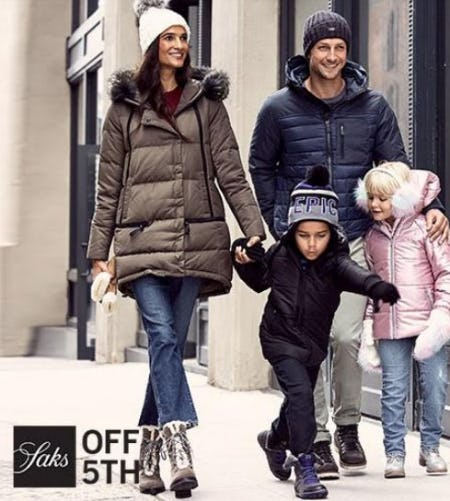 Shop the Saks OFF 5TH Biggest Outerwear Event Event!