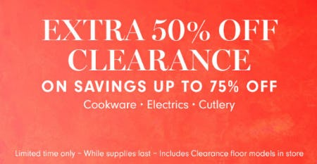 Extra 50% Off Clearance from Williams-Sonoma