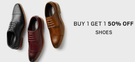 Buy 1, Get 1 50% Off Shoes from Men's Wearhouse