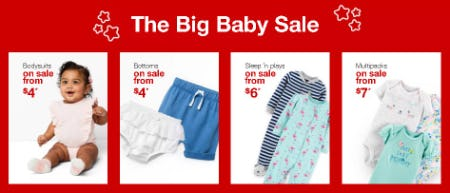 The Big Baby Sale from Target