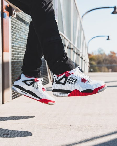 "Air Jordan 4 ""Fire Red"" from DTLR"